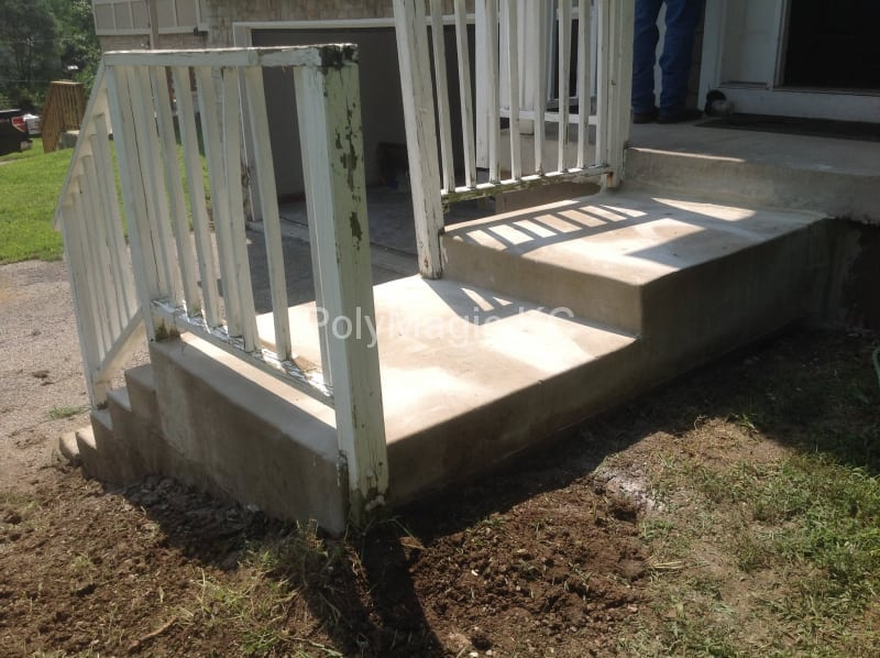 Concrete Stairs- After