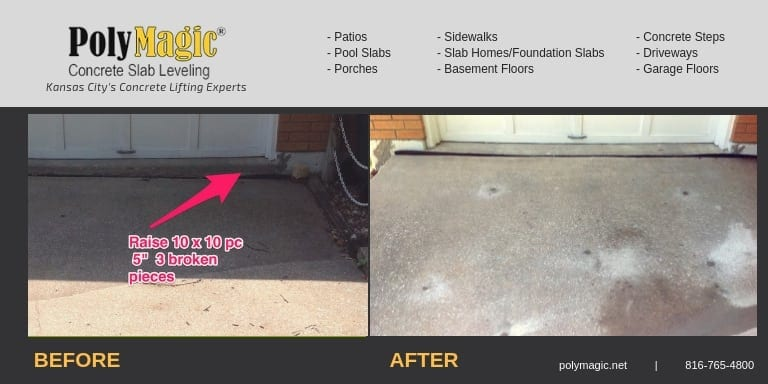 Driveway and Garage Repair the Polyjacking Way