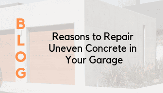 Reasons to Repair Uneven Concrete in Your Garage