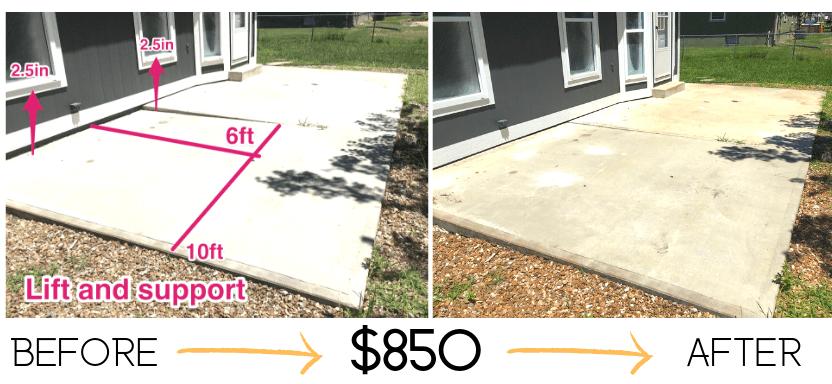 Patio Concrete Repair Polymagic 174 Concrete Slab Leveling