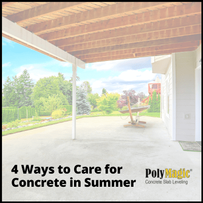4 Ways to Care for Concretein Summer