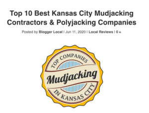 Listed as KC's Top 10 Best Polyjacking Companies