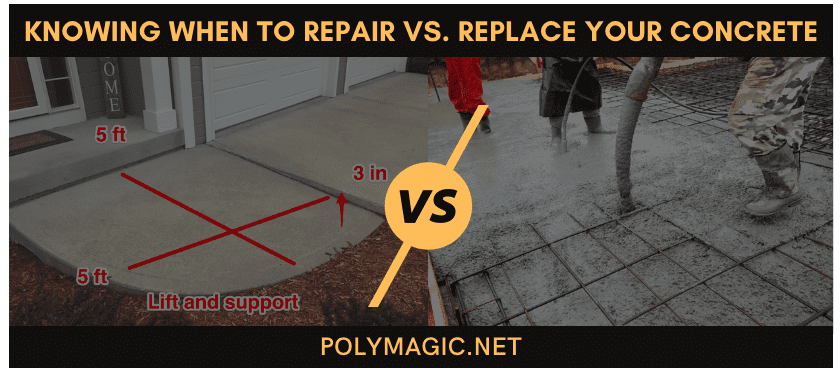 Knowing When to Repair vs. Replace Your Concrete